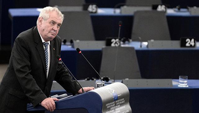 Президент Чехии выступил заотмену антироссийских санкций