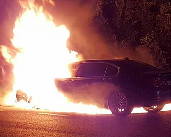 Наобъездной трассе вКраснодаре пожарные потушили горящий «BMW»
