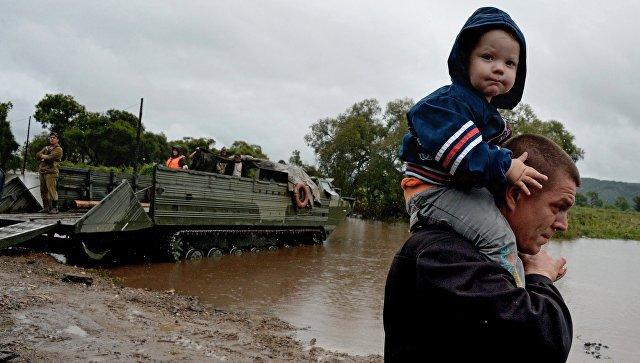 Неменее 607 млн руб. направлено пострадавшим отнаводнений вПриморье