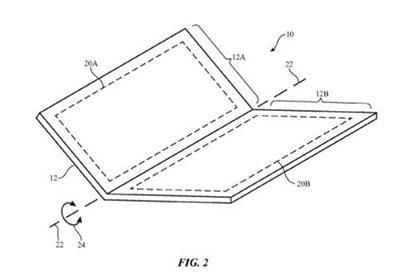 Apple запатентовала проект складного телефона