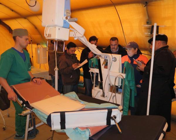 Сирия получила вподарок мобильный госпиталь МЧС