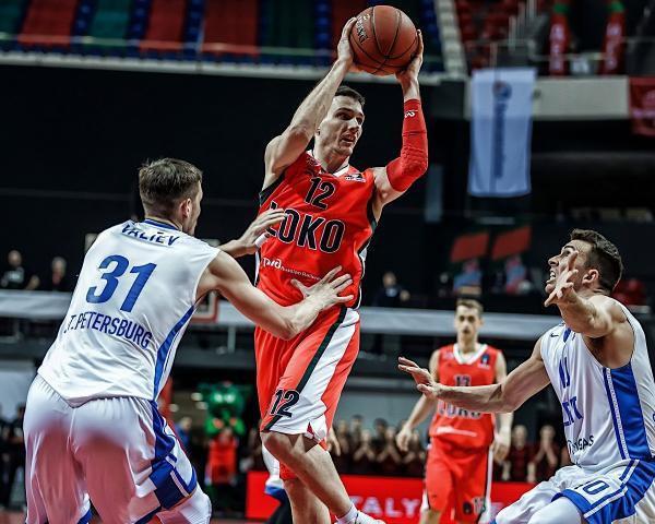 «зенит» обыграл «ульм» в матче баскетбольного еврокубка