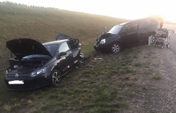 ВКореновском районе вДТП пострадали 4 человека