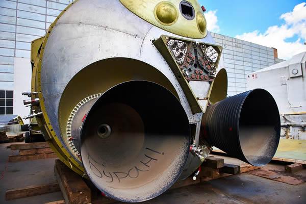 ВСочи поморю доставили прототип космического корабля «Буран»