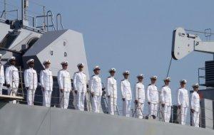 В Новороссийске встретили десантный корабль ВМС Турции