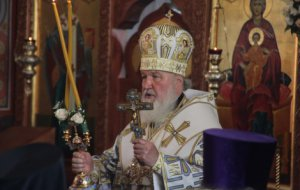 В праздник Рождества Пресвятой Богородицы Предстоятель Русской Церкви совершил Литургию в Успенском кафедральном соборе Новороссийска