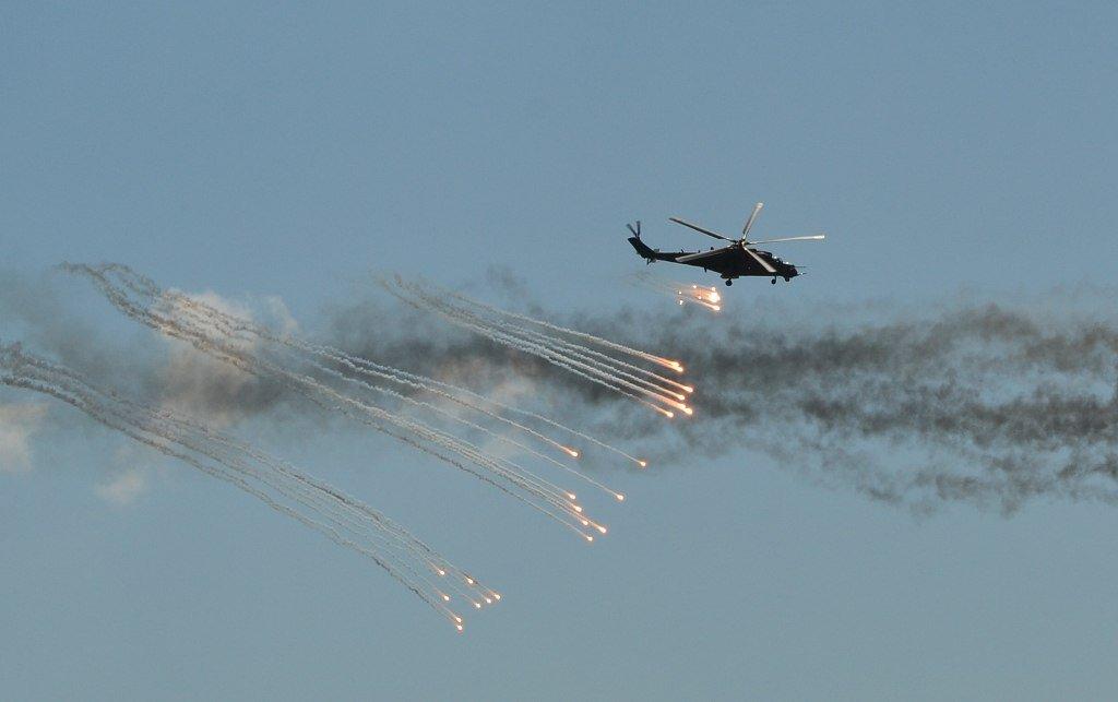 рождения: в отрадном летают вертолеты самолет