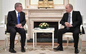 Встреча Владимира Путина с главой МОК Томасом Бахом