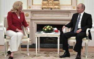 Встреча с Президентом Хорватии Колиндой Грабар-Китарович