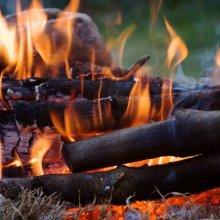 Соблюдайте внимание при разжигании огня