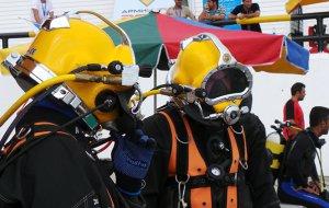 Команда ВМФ РФ в тройке лидеров по итогам шестого дня Международного конкурса по водолазному многоборью «Глубина-2018»