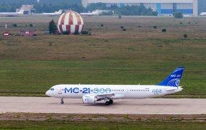 Самолет МС-21 сел в Жуковском после сообщений о неисправности