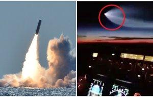 Ядерная ракета США пролетела рядом с пассажирским самолетом
