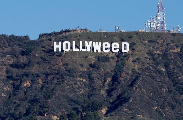 В Лос-Анджелесе неизвестные переделали надпись Hollywood в 'Марихуану'